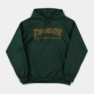 Thrasher Limited Edition Davis Hoody - Forest Green