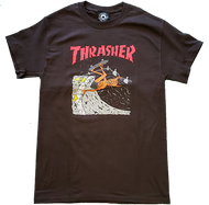 Thrasher Limited Edition Neckface Tee - Brown
