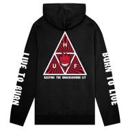 HUF X Spitfire Triple Triangle Hoodie - Black