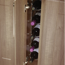 5 Bottle Fixed Wine Rack