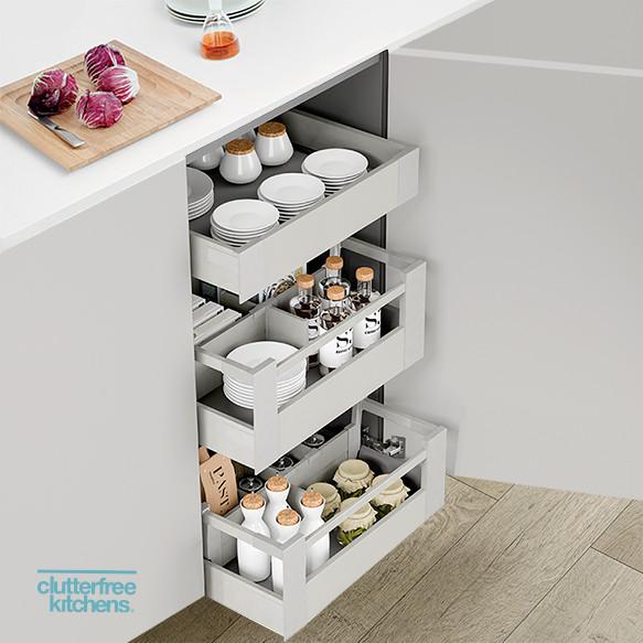 450mm X 3 Internal Drawer Pack Antaro Clutterfree Kitchens