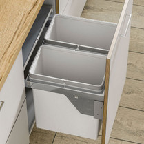 56L Duo Pull-Out Side Mounted Waste Bin
