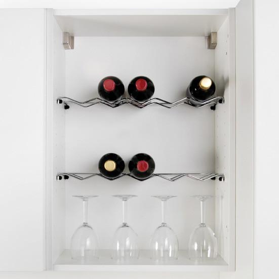 Wine Rack Shelf Chrome Wine Rack In Multiple Sizes