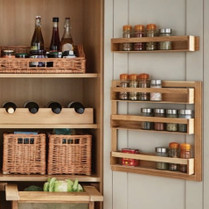 Oak Spice Rack Door Mounted