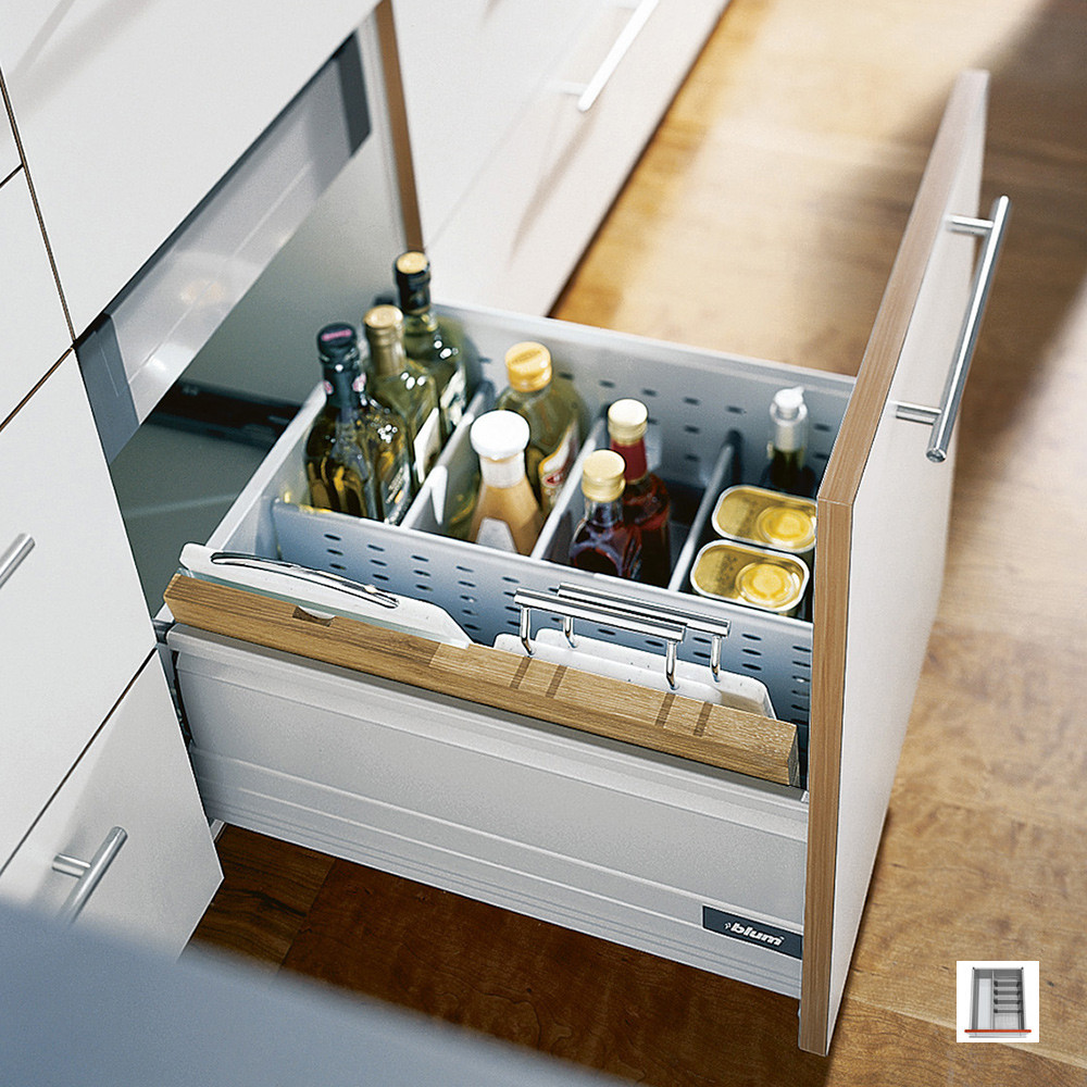 Bottle Holder And Chopping Board Storage For Blum Drawers