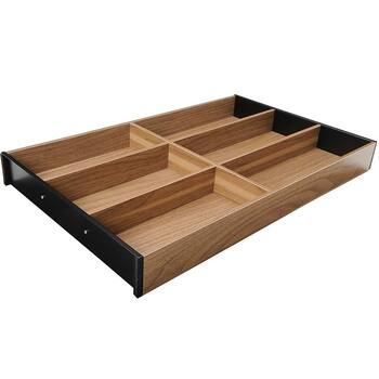 Ambia-Line Cutlery Tray - Tennessee Walnut Wood Design