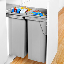 Dual Waste Bin for Pull Out Door