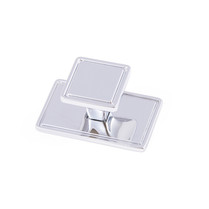 Windsor - Chrome Sqaure Knob & Back Plate