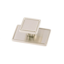 Windsor - Brushed Nickel Square Knob & Back Plate