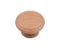 Laithe Ridged - Light Oak Wooden Knob