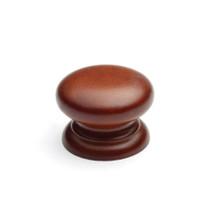 Laithe Button Cherry Wooden Knob
