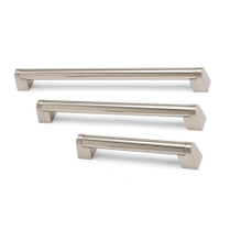 Angled Boss - Brushed Nickel Bar Handle