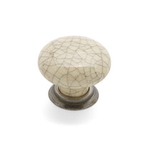 Winchester - Pewter Cream Crackle Knob & Back Plate