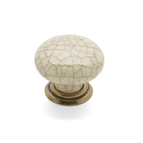 Winchester - Antique Cream Crackle Knob & Back Plate