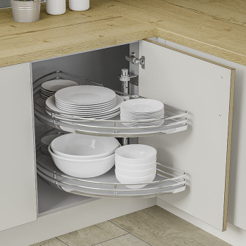 Height adjustable tray's