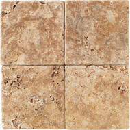 """American Olean Tumbled Stone Puerto Gold 6"""" x 6"""""""
