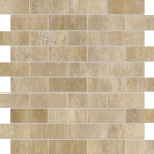 "Ragno Boardwalk Beige 1"" x 4-1/4"" Brick Mosaic"