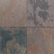 "Daltile Imported Slate Indian Multicolor Natural Cleft 16""X16"""