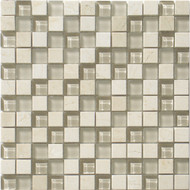 "Interceramic Pietra Crystal Crema Cubic 1"" x 1"" Mosaic"