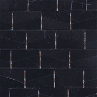 "Daltile Stone a' la Mod 2"" x 3"" Nouveau Nero Wedge Polished"