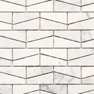 "Daltile Stone a' la Mod 2"" x 3"" Contempo White Wedge Polished"