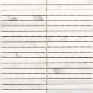"Daltile Stone a' la Mod 6"" x 1/2"" Contempo White Linear Polished"