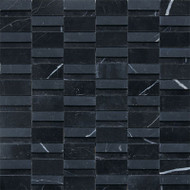 "Daltile Stone a' la Mod 2"" x Random Nouveau Nero High/Low Polished and Honed"