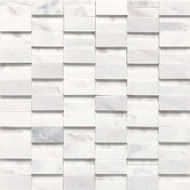 "Daltile Stone a' la Mod 2"" x Random Contempo White High/Low Polished and Honed"
