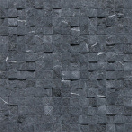 "Daltile Stone a' la Mod 3/4"" x 3/4"" Nouveau Nero High/Low Split Face"