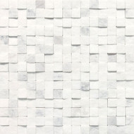 "Daltile Stone a' la Mod 3/4"" x 3/4"" Contempo White High/Low Split Face"