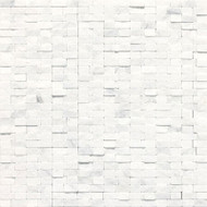 Daltile Stone a' la Mod Split Face Contempo White Split Face Random Brick Joint