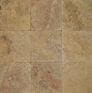 "Bedrosians Pavers Travertine Tile Golden Sunset 16"" x 16"""