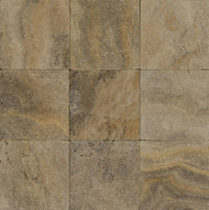 "Bedrosians Pavers Travertine Tile Philadelphia Rust 16"" x 16"""