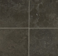 "Bedrosians Limestone Tile Vogue Brown Brushed 6"" x 6"""