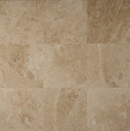 "Bedrosians Marble Tile Cappuccinno Tumbled Marbe 6"" x 6"""