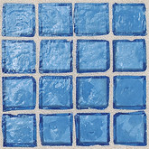 "Daltile Egyptian Glass Mediterranean Clear Mosaic 1"" x 1"""
