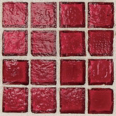 "Daltile Egyptian Glass Crimson Clear Mosaic 1"" x 1"""