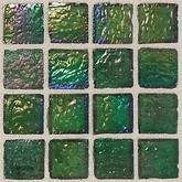 "Daltile Egyptian Glass Papyrus Iridescent Mosaic 1"" x 1"""