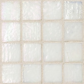 "Daltile Egyptian Glass Cotton Iridescent Solid Mosaic 1"" x 1"""