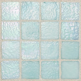 "Daltile Egyptian Glass Oasis Iridescent Solid Mosaic 1"" x 1"""