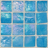 "Daltile Egyptian Glass Caspian Iridescent Solid Mosaic 1"" x 1"""
