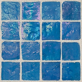 "Daltile Egyptian Glass Nile Iridescent Solid Mosaic 1"" x 1"""