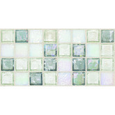 "Daltile Egyptian Glass Moonstone Blend Mosaic 1"" x 1"""