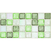"Daltile Egyptian Glass Peridot Fusion Blend Mosaic 1"" x 1"""
