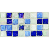 "Daltile Egyptian Glass Sapphire Collage Blend Mosaic 1"" x 1"""