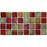 "Daltile Egyptian Glass Garnet Gallery Blend Mosaic 1"" x 1"""