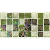 "Daltile Egyptian Glass Topaz Melange Blend Mosaic 1"" x 1"""