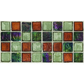 "Daltile Egyptian Glass Amber Medley Blend Mosaic 1"" x 1"""