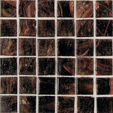 "Daltile Elemental Glass Rootbeer Float Mosaic 3/4"" x 3/4"""