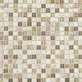 Daltile Stone Radiance Kinetic Mushroom/Morning Sun Blend Mosaic